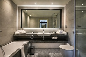 Offsite Solutions luxury bathroom pods for Llanerch Vineyard Hotel