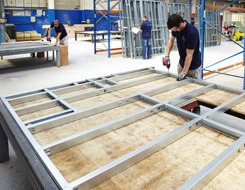 Offsite Solutions steel-framed pod manufacture
